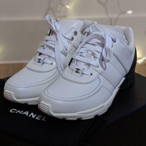 d6b28b6163 Women Black And White White Chanel Sneakers on Poshmark